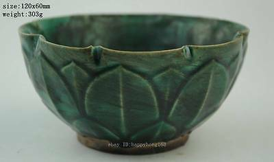 Anciet China The song dynasty style Green glaze porcelain bowl b01