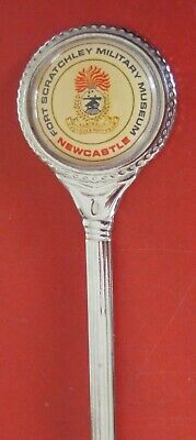 1 x COLLECTORS  SPOON - FORT SCRATCHLEY MILITARY MUSEUM NEWCASTLE