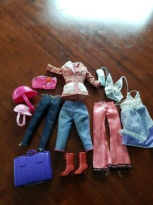 Barbie OriginaI Clothing Lot x 4 outfits  & 1pair Shoes  preloved condition.