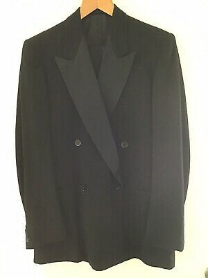 Vintage Mens Formal Double Breasted Dinner Suit - Pure Wool 1960'S.