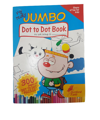 Dot to Dot Colouring Book 300 A4 Page PUZZLES BORED CHILDREN HOME OFF SCHOOL