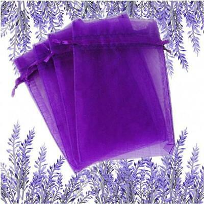 Lavender Organza bags - Empty  9 x 12 cms  - Top Quality