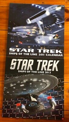 Star Trek Ships of the Line Official 2011 & 2013 Calendars. Excellent Condition.