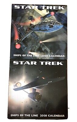 Star Trek Ships of the Line Official 2005 & 2008 Calendars. Excellent Condition.