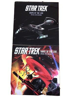 Star Trek Ships of the Line Official 2015 & 2016 Calendars. Excellent Condition.