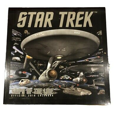 Star Trek Ships of the Line Official 2018 Calendar. Excellent Condition.