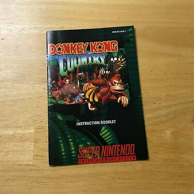Snes Donkey Kong Country Manual Only Nice Shape!