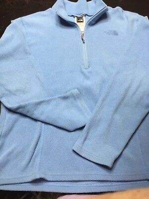 THE NORTH FACE Girls Blue Fleece Half Zip Pullover, size Large
