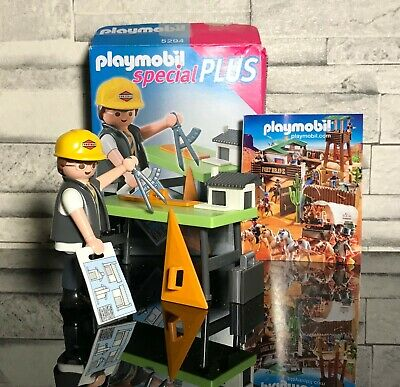 Q1226 CHANTIER PLAYMOBIL Ordinateur Portable Bureau Chef de Chantier 3275