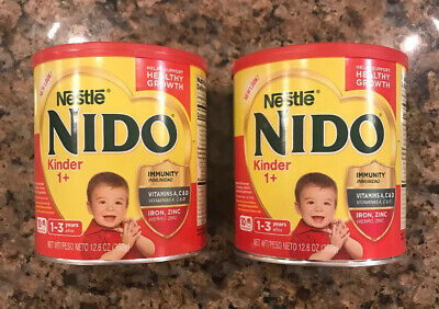 Nido Powder NESTLE Milk Kinder 1+ (1-3 years) 12.6 Oz 360g 2 cans SMALL size
