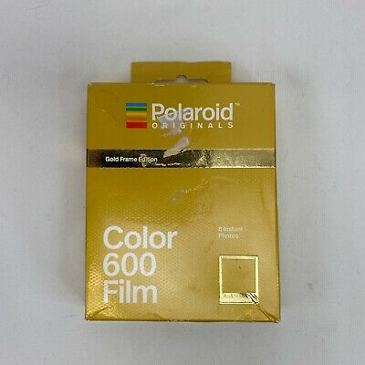 EXP 8/18 - Polaroid Originals GOLD FRAMES Color instant film 600 636 One Step US