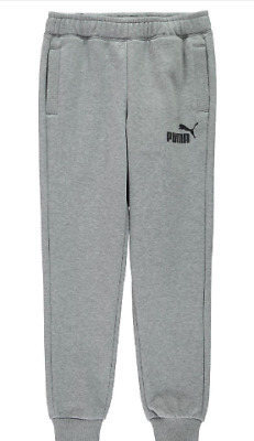Puma Kids Boys Tapered Fleece Pants Junior Jogging Bottoms UK Size S *REF154