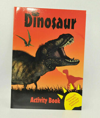 Dinosaur Colouring and Activity Book Fun Kids Books Children's Drawings Dino Art