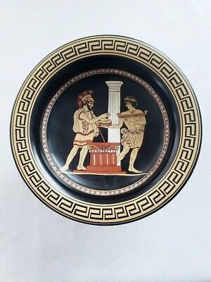 Kylix Hand Painted Greek Hinomaus Sacrifice Footed Drinking Cup Bowl Numbered