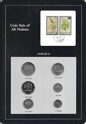 Coin Sets of All Nations Singapore UNC w//card All 1981 but 10 cents 1982