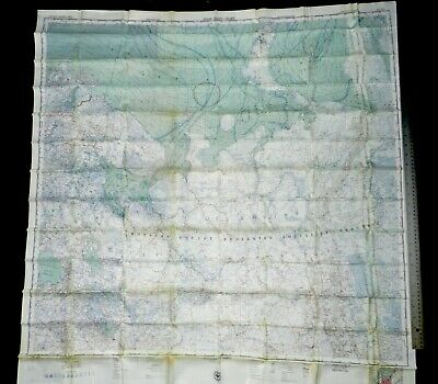 Original Us Military Escape Map Cl 305 Central China 304 Himalayas Usaf Aircrew
