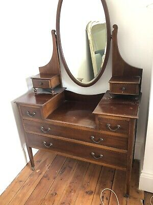 Antique Dressing Table with Matching Wardrobe- Pre Loved And In Great Condition