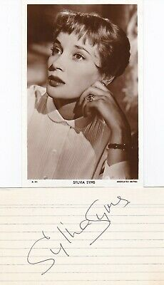 SYLVIA SIMMS - Actress - The Queen - SIGNED LINED CARD + PHOTOCARD - AFTAL/UACC