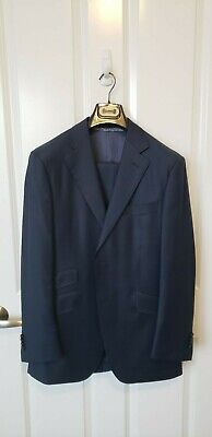 SuitSupply Suit Supply Custom Blue Suit 38 R / 48 Euro 3 Piece Vest