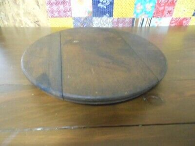 Antique Primitive Old Round Wooden Bread/Cheese Cutting Board Original Old Store