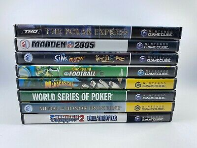 NINTENDO GAMECUBE GAME LOT - 8 - Kids, Sports , Shooter - Most Complete Manuals