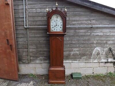 Oak Longcase Grandfather Clock Hardeman of Bridge Early 19th Century V late 18th