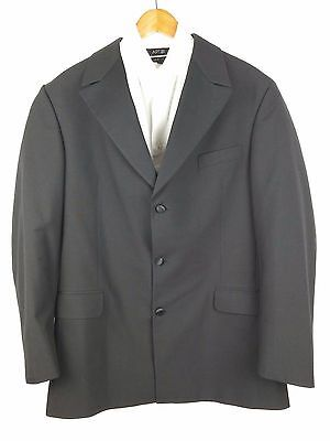 Andrew Fezza New York Black 2 Button Blazer Mens Sport Coat Jacket 42L (A77)