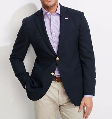 NWT Vineyard Vines Men's Navy Blue Blazer Sport Coat 42L $495