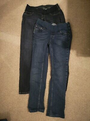 Seraphine maternity jeans bundle Size 12 Regular length Navy Blue under bump