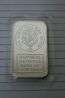 Republic National bank of  New York 1 ounce silver bar sealed ⚒