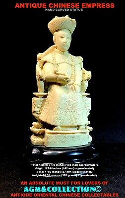 Chinese Figurine / Finely Hand Carved / Made in Italy