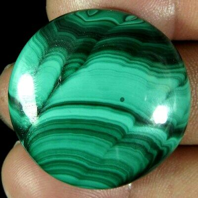 58.40Cts A+ 100%Natural top quality Green Malachite round Cab Loose Gemstone