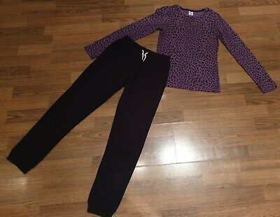 Girls Outfit Set Top H&M and Joggers Primark 11-12 Years