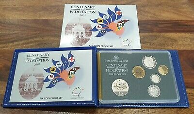 Royal Australian Mint 2001 Centenary of Federation Six Coin Proof Set