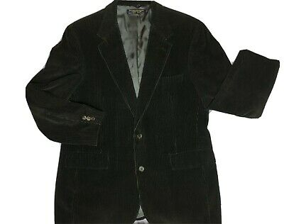 Brooks Brothers Mens Suit Jacket Blazer Two Button Corduroy Green Sport Coat