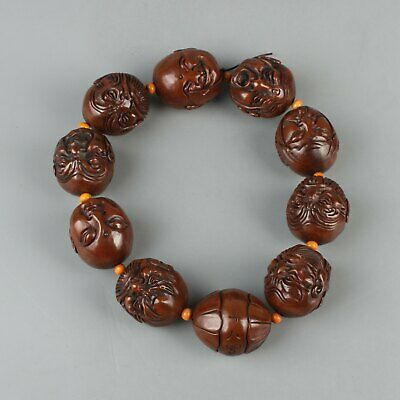 Chinese Exquisite Handmade Luohan Olive nuclear Bracelet
