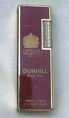 Vintage Dunhill Red Burgundy Rollagas Lighter