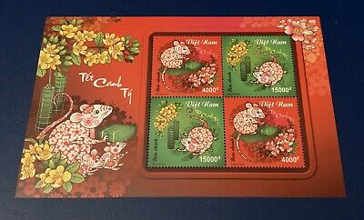 Vietnam 2019 Year Of The Rat Mouse Zodiac Lunar New Year VN #1118 Bloc 2020 S/S