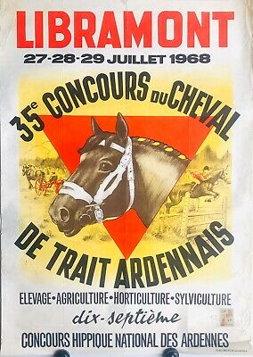 Vintage French Horse Fair Poster July 1968 Cheval