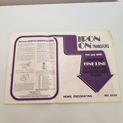 2015 - Hobbytex - Home Decorating Iron on Transfers Booklet