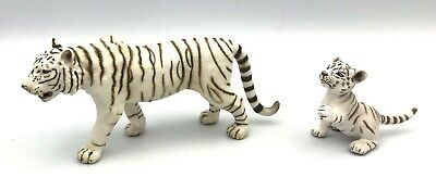 Schleich WHITE SIBERIAN TIGER & CUB Wildlife Figures 2007 Retired