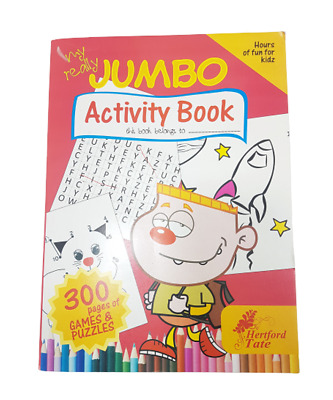 A4 ACTIVITY BOOK KIDS COLOURING PUZZLES BORED CHILDREN HOME OFF SCHOOL 300 Pages