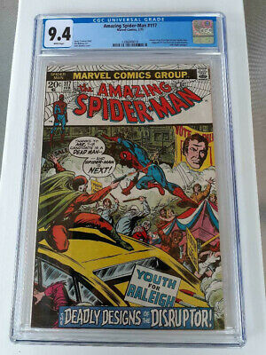 Amazing Spider-Man #117 CGC 9.4 NM White Pages 1st app Disruptor like Halo
