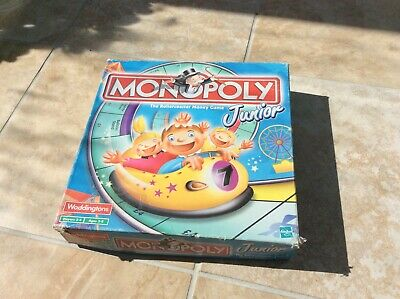 Waddingtons Monopoly Junior Board Game money rollocoster edition age 5-8