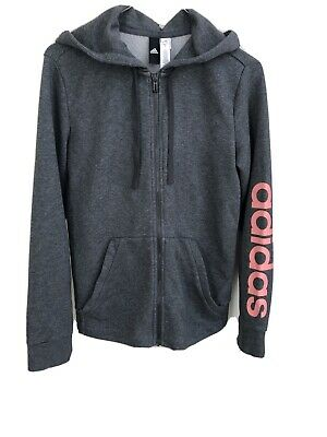 Adidas Girls Zip Up Hoodie UK 8-10 Small