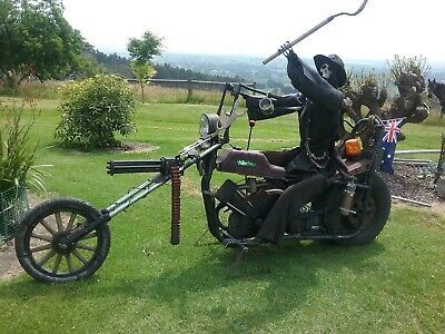 Grim Reaper on Iron Horse Statue for Man Cave, Shop Display or Garden