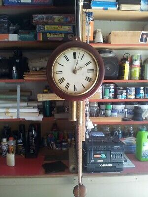 Vintage Clock  with wooden works   1800 s   weight driven