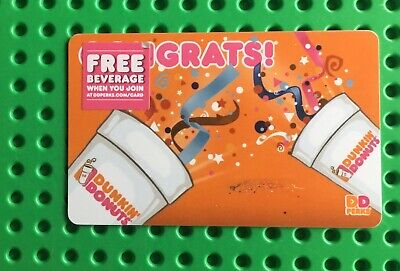 Dunkin' Donuts Gift Card - No Value - Unscratched And Loadable -Free Shipping!