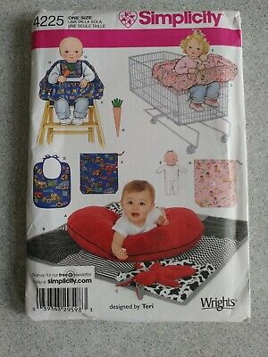 Simplicity 4225 Baby Quilt High Chair Shopping Cart Cover Toy Bib Sewing Pattern