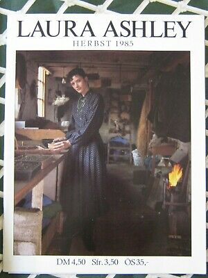 Laura Ashley Vintage Herbst Katalog Catalogue FASHION 1985 - RAR /German Deutsch